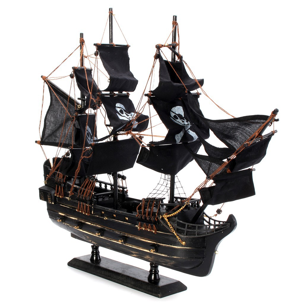 ed3bd801e676 ✑GM Model Pirate Ship Wooden Sailboat Kits Home Decoration Boat Craft Gift  Toy