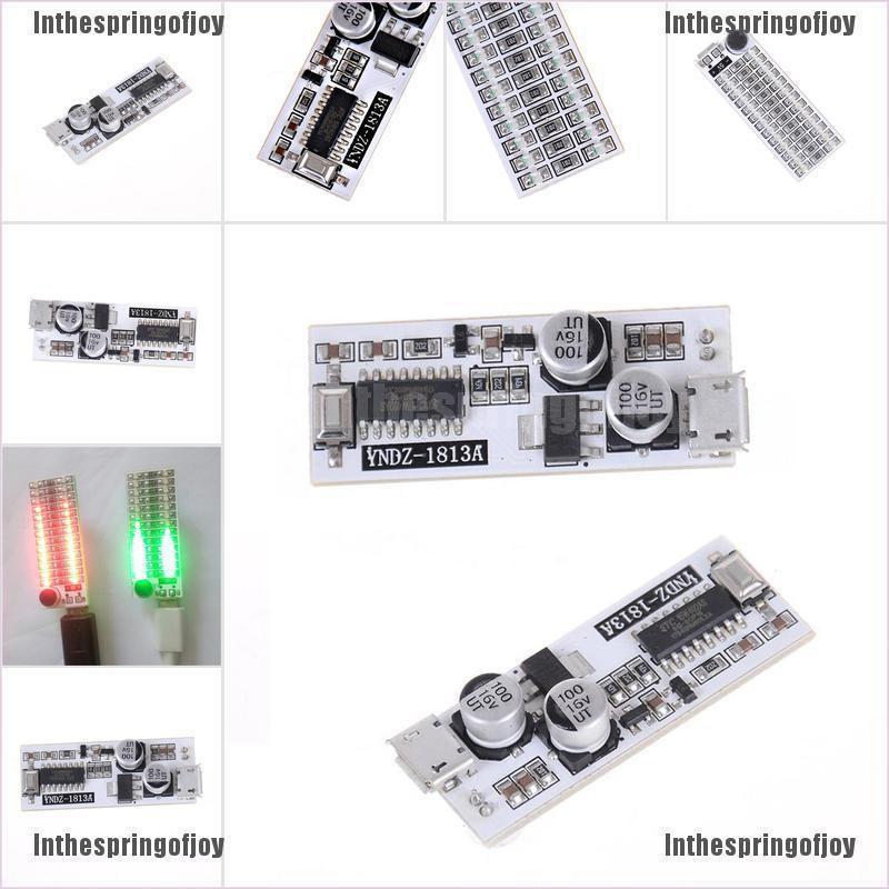 Inthespringofjoy✿ USB Power 2x13 Mini Music Spectrum LED Analyzer Voice /  Audio Level Indicator