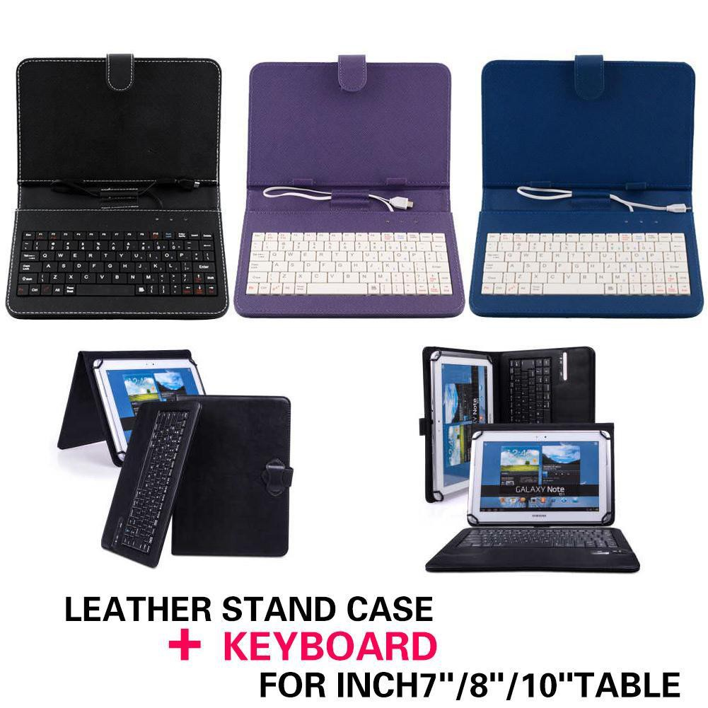 NB PU Leather Stand Case Cover with MINI Micro USB Keyboard 7 Inch 7''  Tablet