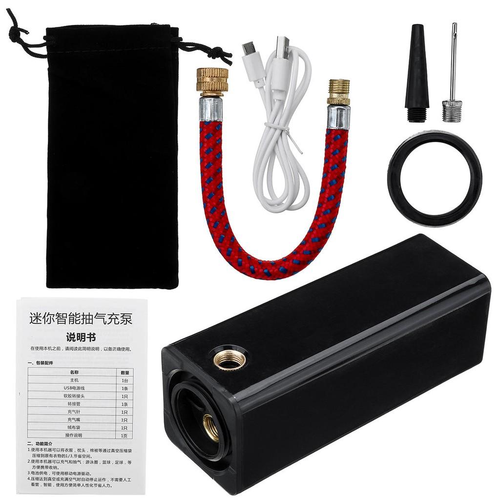 2 In 1 Mini Compression Vacuum Food Sealer Electric Air Pump Inflator Ball Pump