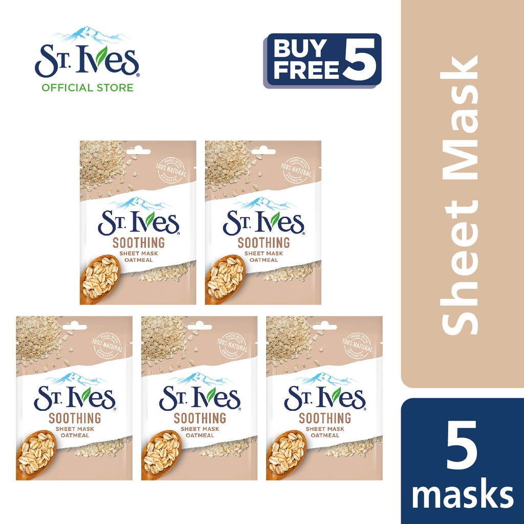 St. Ives Soothing Oatmeal Sheet Mask [Buy 5 Free 5]
