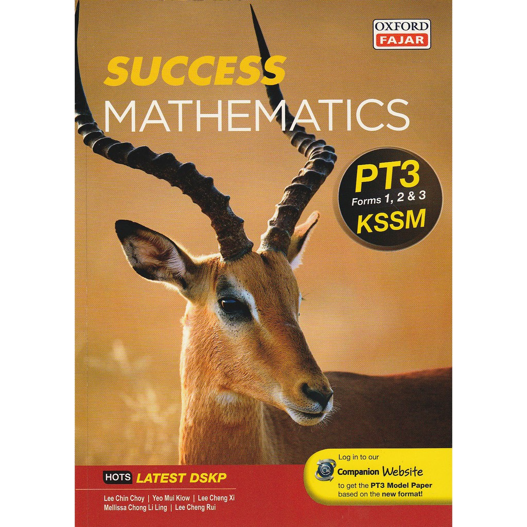 OXFORD FAJAR SUCCESS MATHEMATICS PT3 KSSM 2019 - ENGLISH EDISON