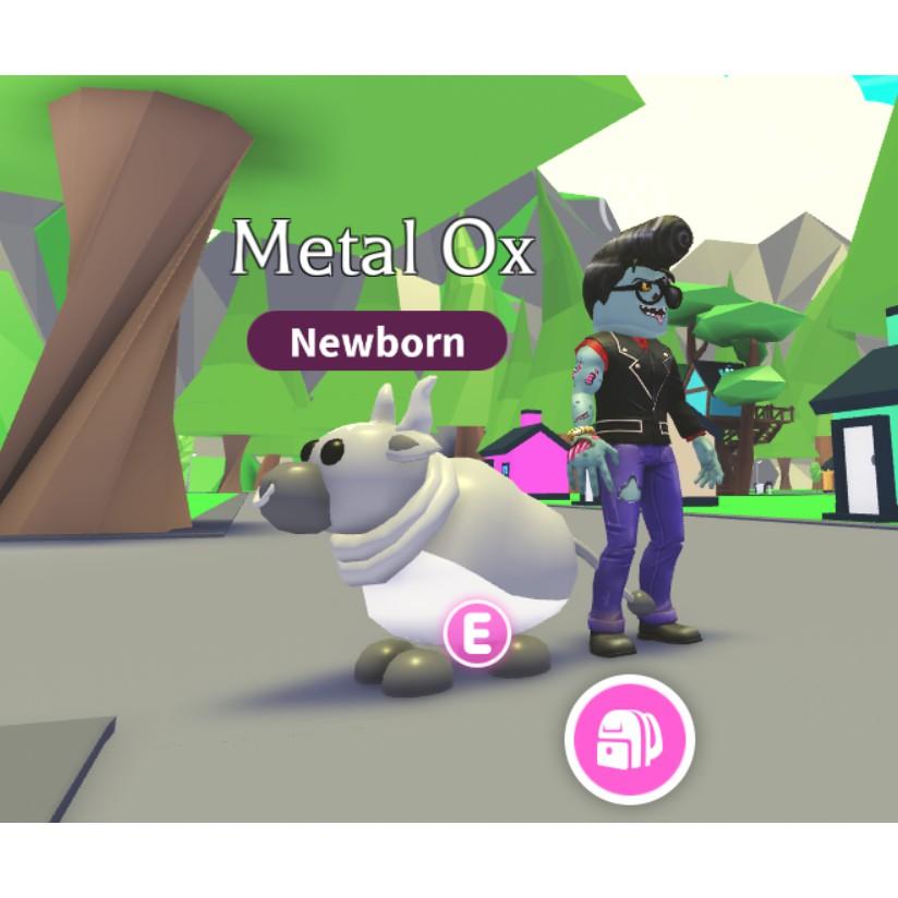 Newborn Metal Ox Adopt me pet