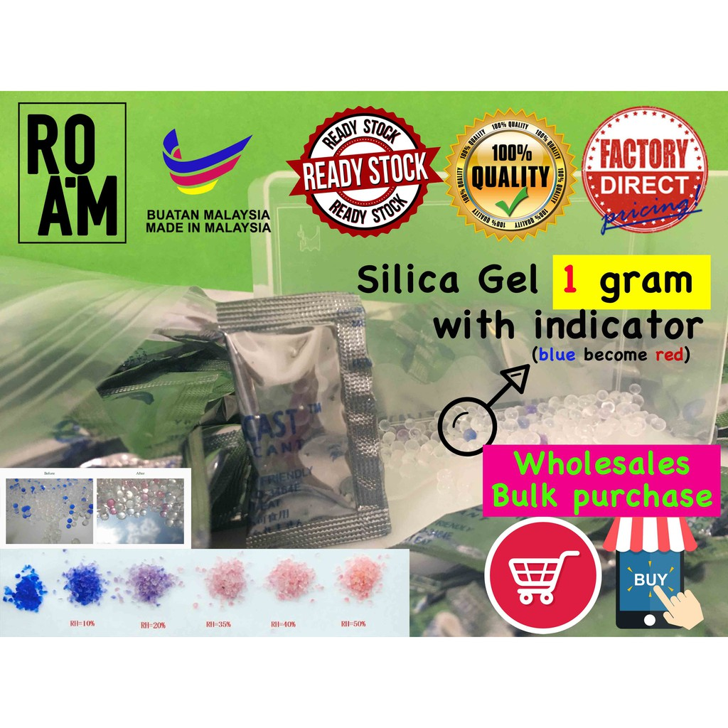 [Ready Stock] Silica Gel Desiccant 1 gram per pack for food grade,electronic and etc