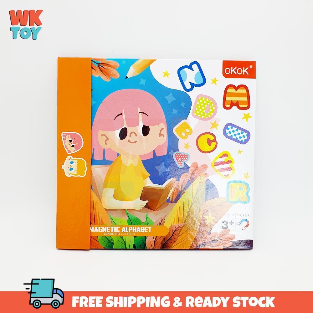 WKTOY Magnetic ABC Letters Alphabet Book Early Learning Matching Pairing Buku Pelajaran 磁性 字母 益智