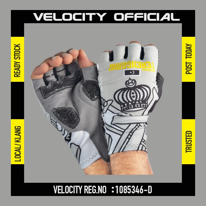Cycling Glove Gel Velocity Gloves Terengganu Half Finger Glove UV Protection Glove Stretchable Glove
