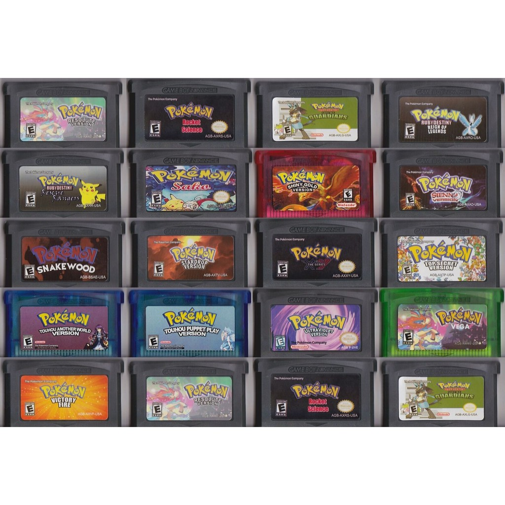 Pokemon Games GBA Game Boy Advance: ROCKOT SCIENCE, VICTORY FLRE,SNAKE WOOD