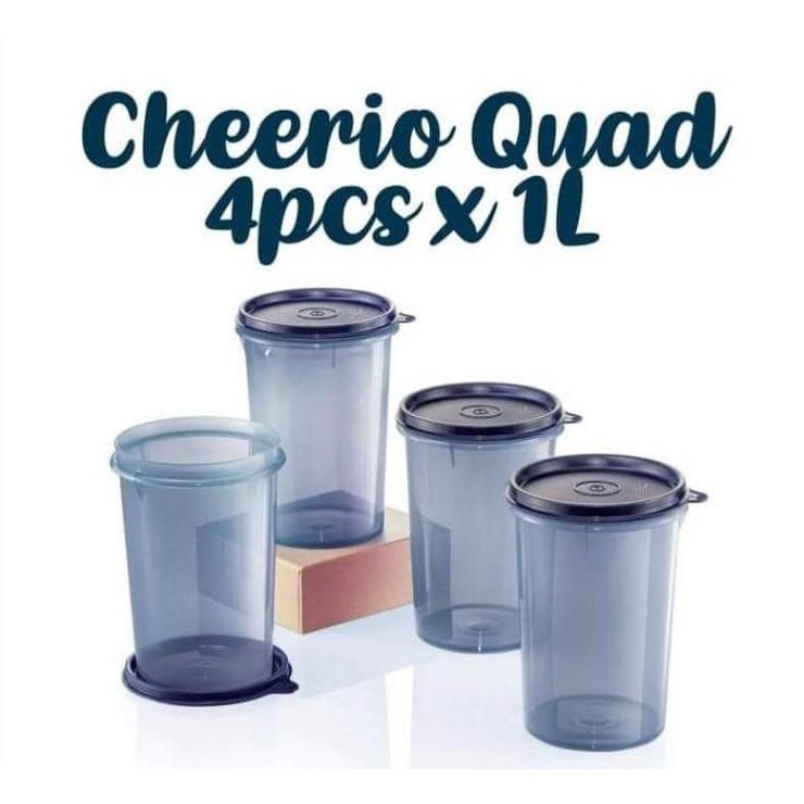 Tupperware Cheerio Quad 1L (4 Pcs)