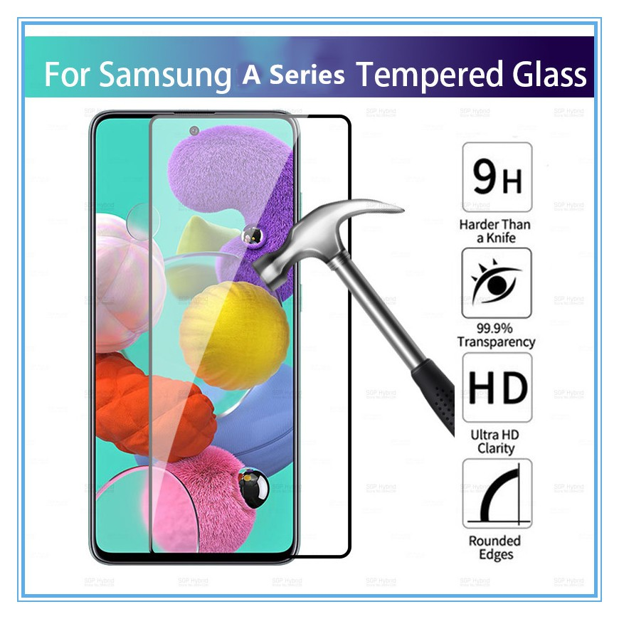(Normal) Samsung A01 Core A02 A02S A11 A12 A21S A31 A42 A51 Clear Tempered Glass