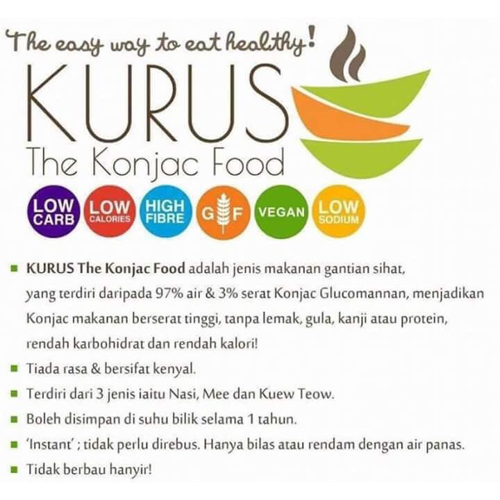Konjac Kurus Food Diet Atkins Ready Stock Shopee Malaysia