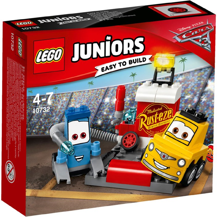 Lego Disney Cars 3 Juniors 10732 Guido And Luigi S Pit Stop Shopee Malaysia