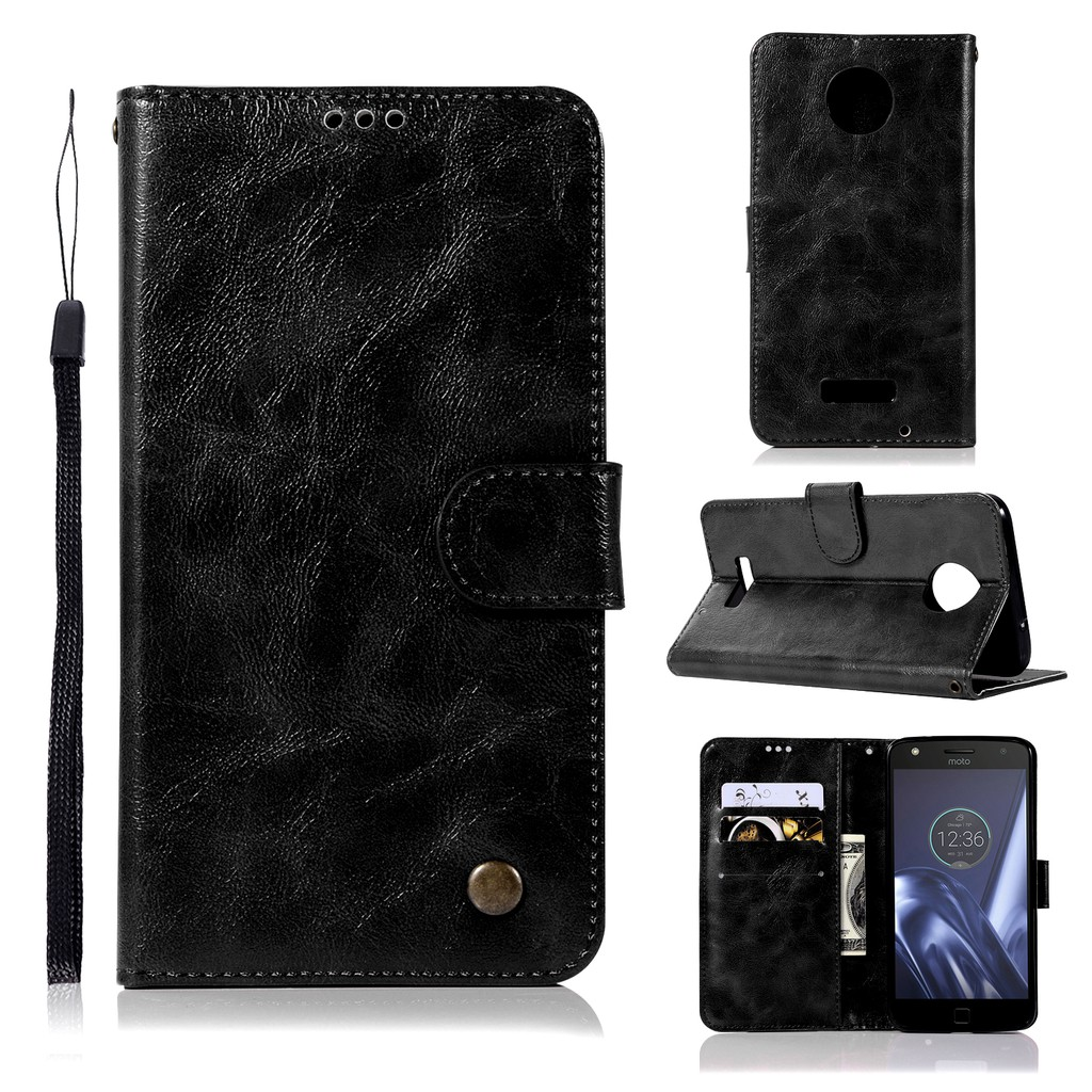 edd33fc9286a For Motorola Moto Z Force Luxury PU Leather Wallet Flip Protective Case  Cover