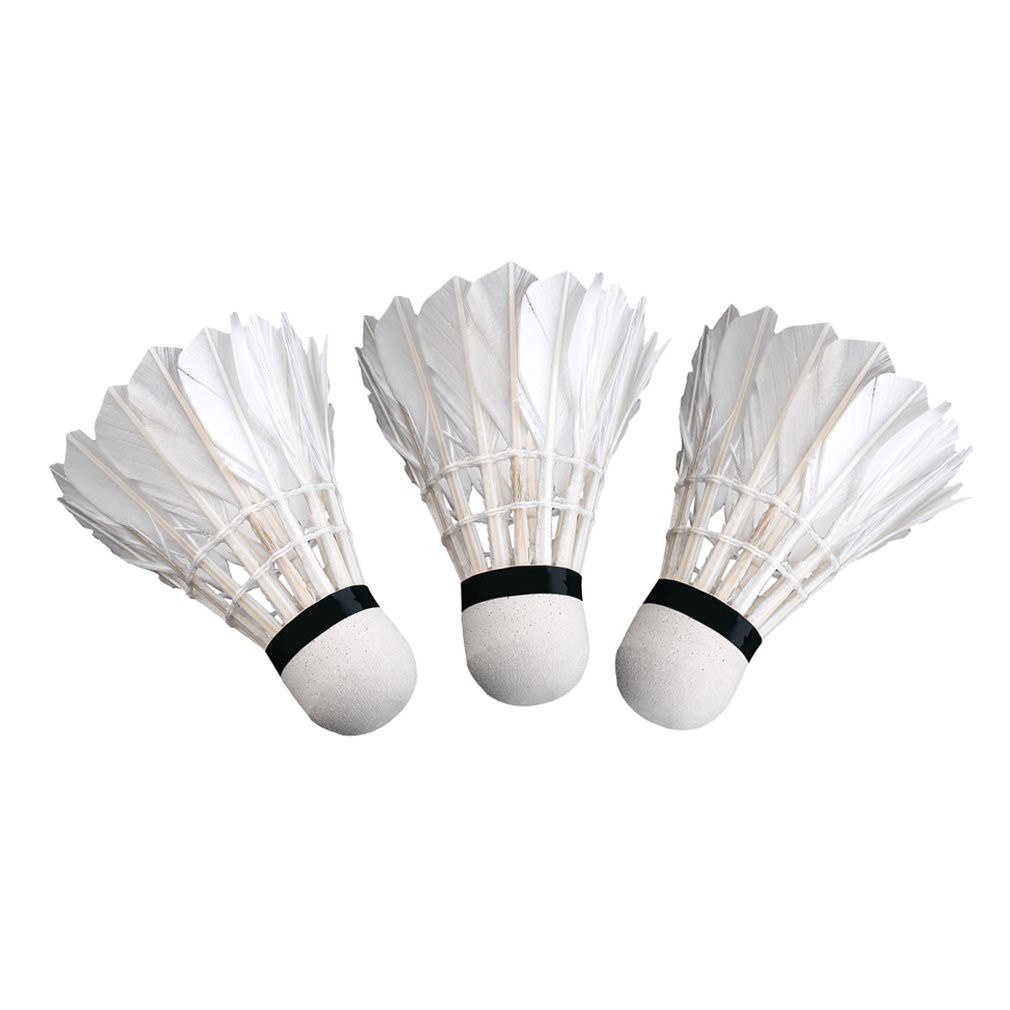 Bälle 5pcs Game Sport Training White Duck Feather Shuttlecocks Birdies Badminton Pu