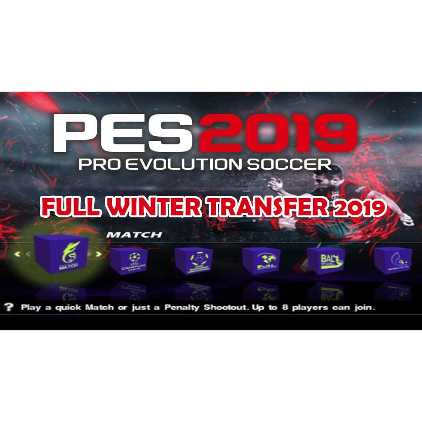 PS2 GAMES PES 2019 FULL WINTER TRANSFER 19 DENGAN KAMERA PS4