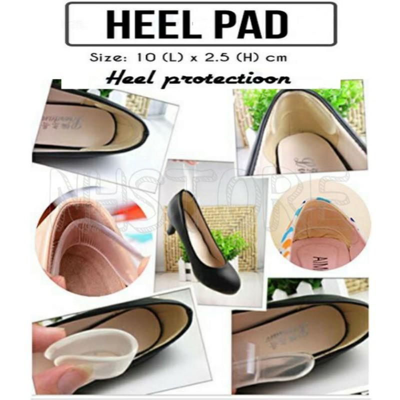 Heel Pad Protection Silicone Pad Insole Heel Pain Relief / Silicone Gel Untuk Kasut Perempuan Kurangkan Kesakitan