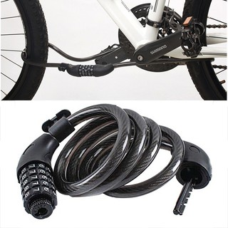 Bicycle Bike Cycling Security 3 Digit Code Password Combination Cable Lock Black