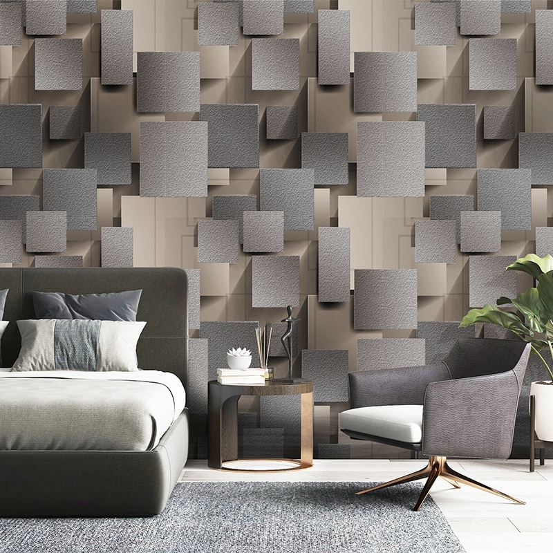 Modern 3d Lattice Non Woven Suede Wallpaper For Walls Wall Paper Roll 3d Wallpaper For Living Room Bedroom Tv Wall Paper Decor Shopee Malaysia