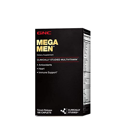 GNC Mega Men Multivitamin Men 180 Count Antioxidants Heart Health Immune  Support