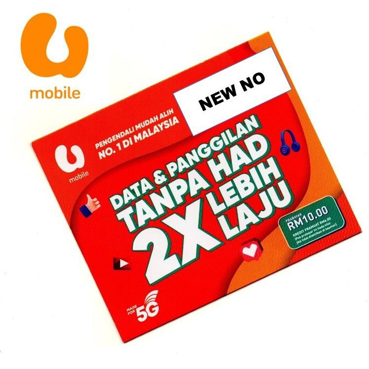 *UNLIMITED Internet * U MOBILE Prepaid Number Starter Pack ...
