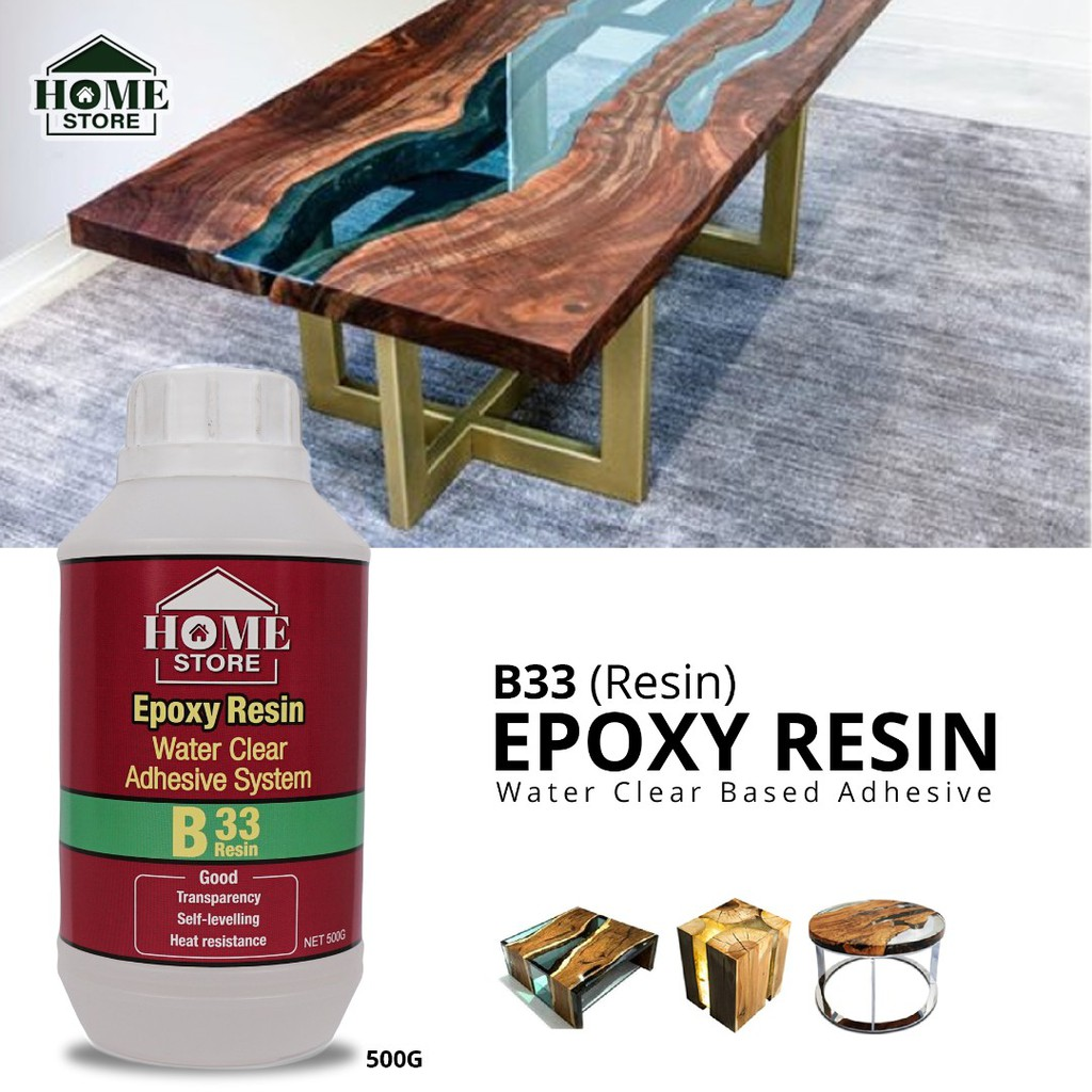 Home Store Epoxy Resin B33 Water Clear Based Adhesive 500G (Resin)