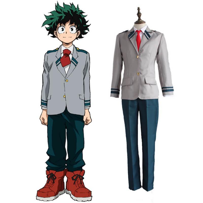 Anime My Hero Academia Izuku Midoriya High School Uniform Cosplay Costume