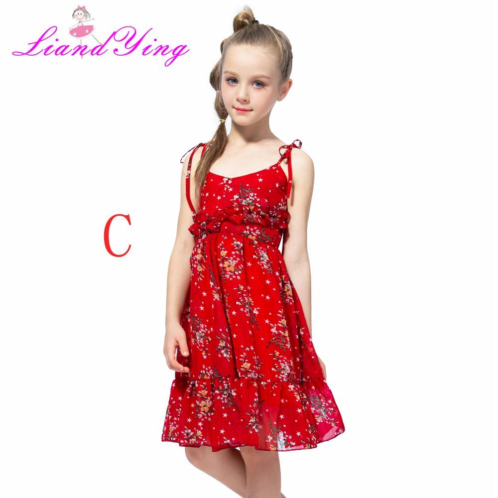 6e6df6682b Summer Kids Dresses for Girls Princess Dress Children Jersey Girls Sling  Dresses
