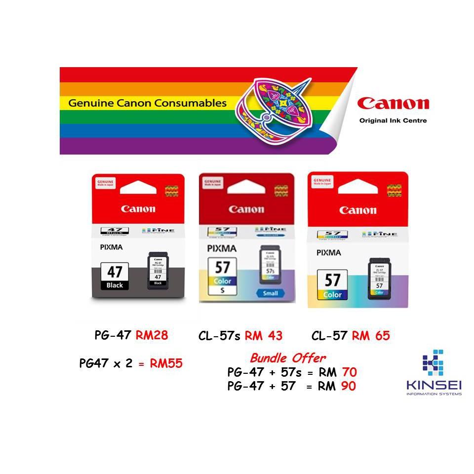 Canon Cartridge Pg47 Cl57 Ink For E400 E410 E460 E470 E480 E3170 Pg 47 Original Shopee Malaysia