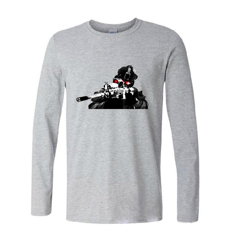 T shirt men call of duty printed long sleeve tshirt cotton_b46