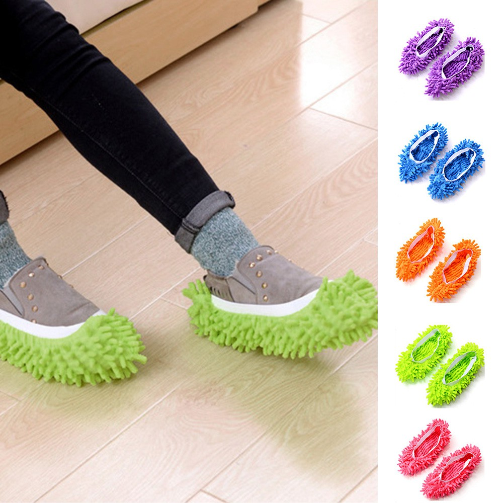 """Floor Dust Cleaning Slippers Shoes Mop Non Slip House Shoe 15*17cm//5.9*6.7/"""""""