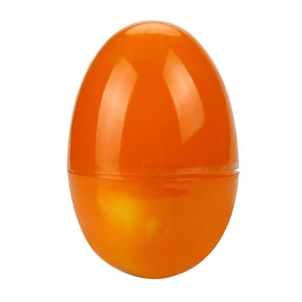 Transparent Water Egg Stress Relief Squeezing Mascot Yolk Squishy Ball (Orange)