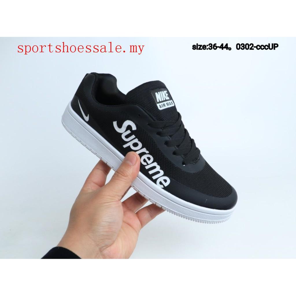 saltar picar sombrero  Supreme x Nike AIR TIEMPO VETTA Skate Shoe Men Women Casual Sport Sneakers  Black   Shopee Malaysia