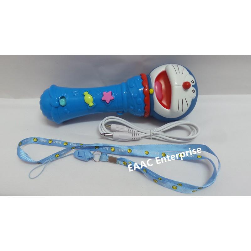 CLEARANCE Cute Doraemon Microphone Singing Pretend Play Karaoke Toys