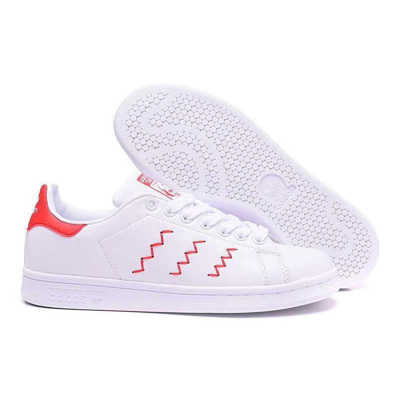 huge discount b9e6b aed0b Original 0riginals Adidas Stan Smith Men's and Women's White/Red