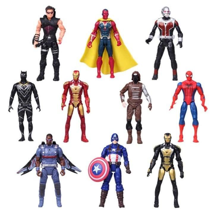 10pcs//lot The Avengers spider man iron man Hulk America captain mask gift toys
