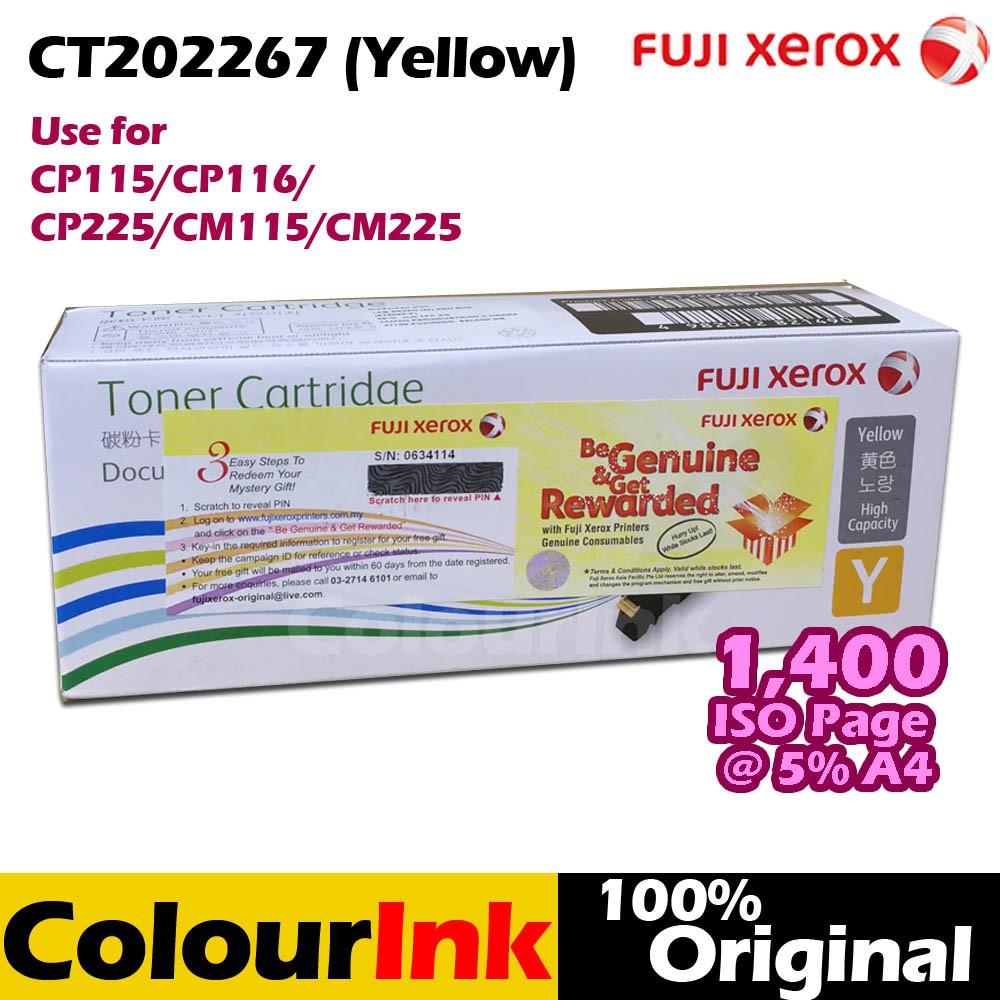 Fuji Xerox CT202267 Original Yellow Toner  CP115w/CP116w/CP225w/CM115w/CM225fw