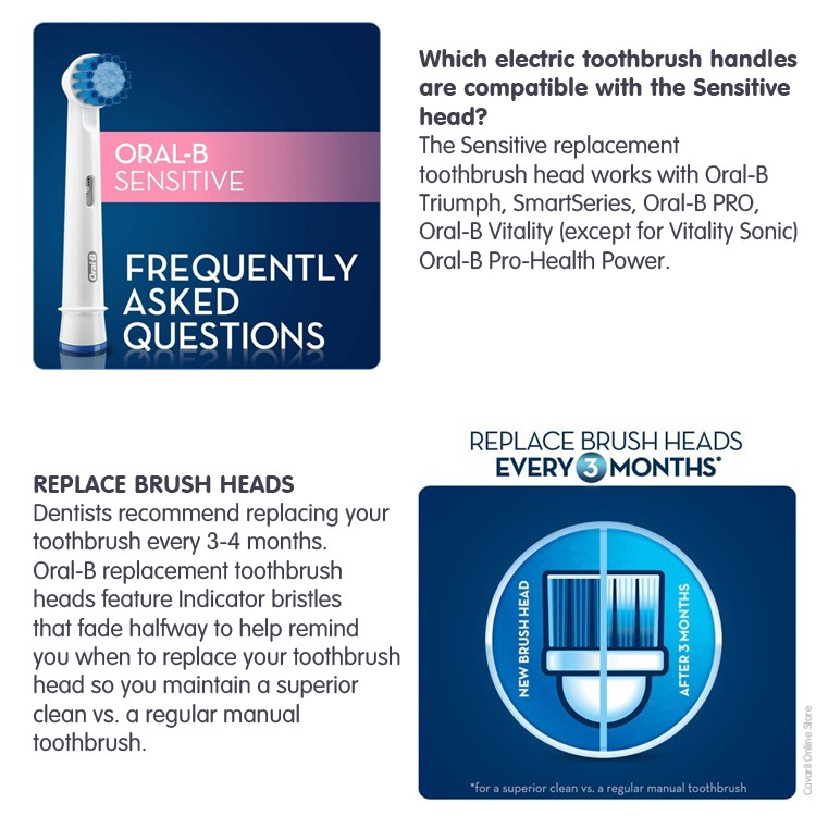 Oral-B EB17S Sensitive Clean Replacement Refill Brush Heads Electric