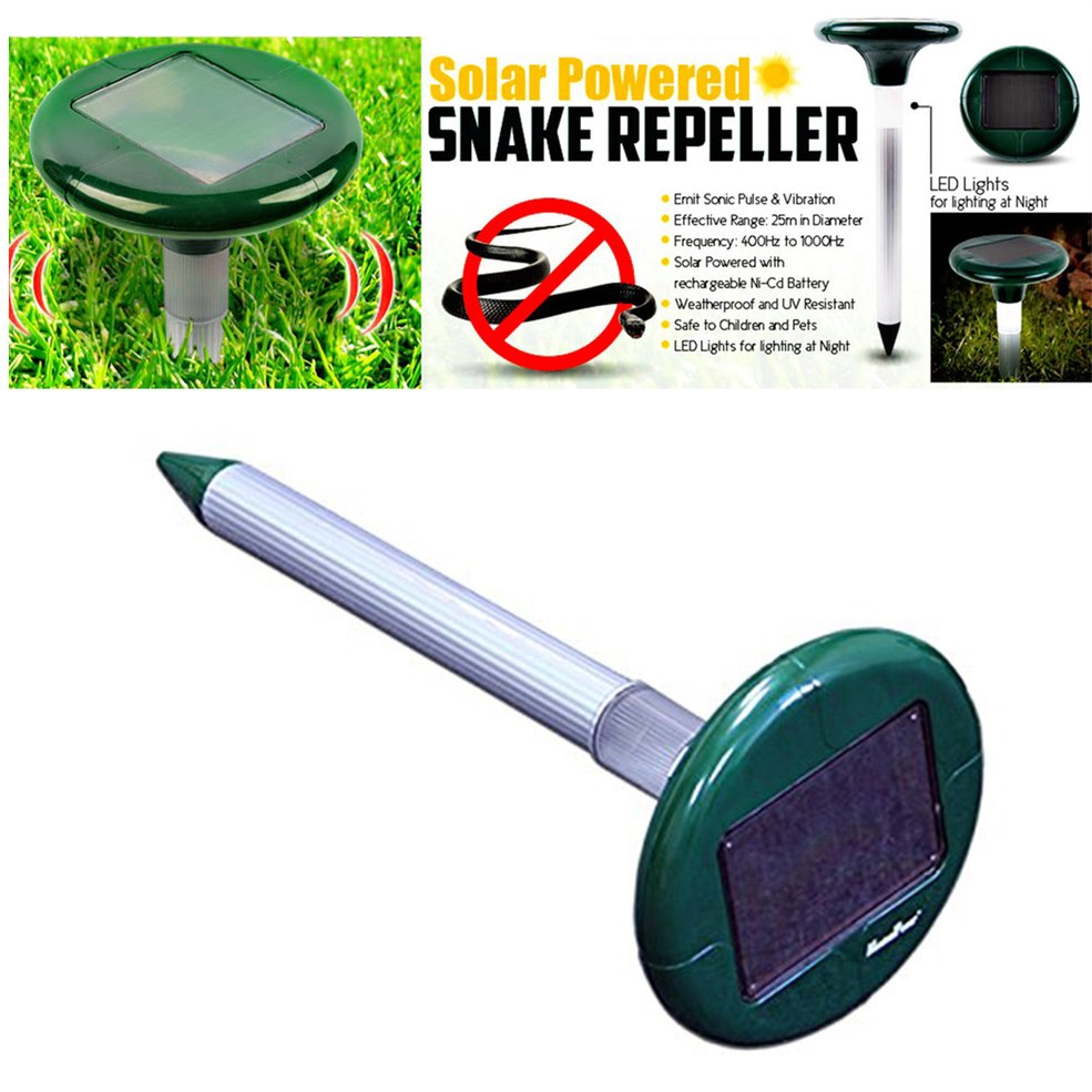 Solar Ultrasonic Snake Repeller Sonic Animal Repeller Bird Control Device Double Led Lights Environmentally Friendly Device Solar Lamps
