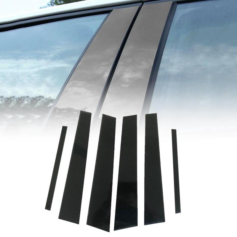 Fits Chevy Cruze 2016-2018 Piano Glossy Black Pillar Posts Trim 10PCS