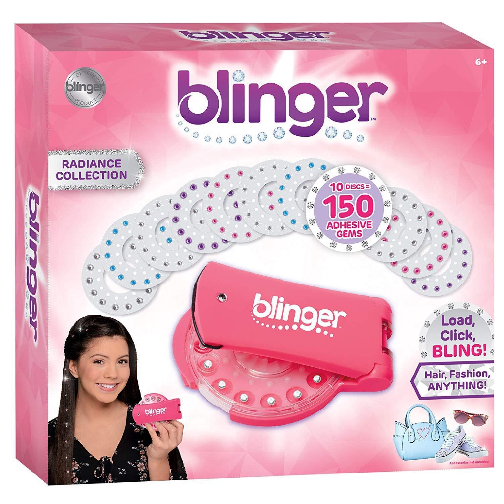 Make your hair look FROZEN Blinger Ice Refill Set Comes Complete with 180 Gems offering a Variety of Round and Snowflake Shapes