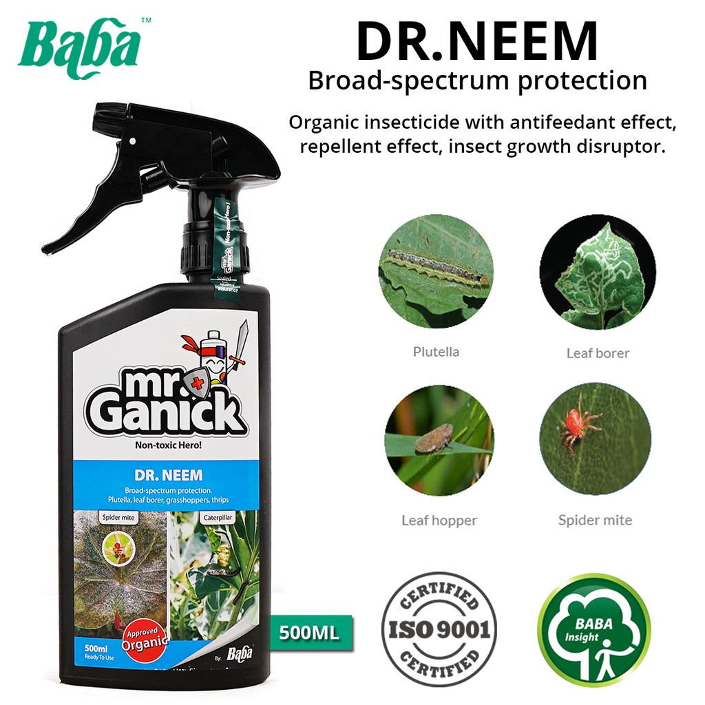 Baba Mr Ganick Dr. Neem Natural Pesticide Ready To Use 500ML