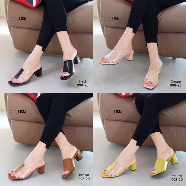 998-20 รองเท้าส้นสูงแบบสวม ซิลิโคนใสนิ่มไม่บาดเท้า พื้นนิ่ม น้ำหนักเบา แบบใหม่สวย เก๋ เริ่ด เ