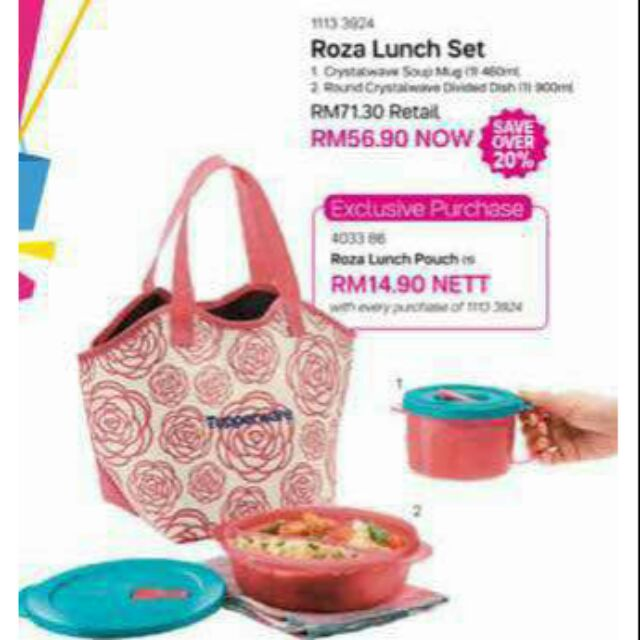 Roza Lunch Set Microwaveable