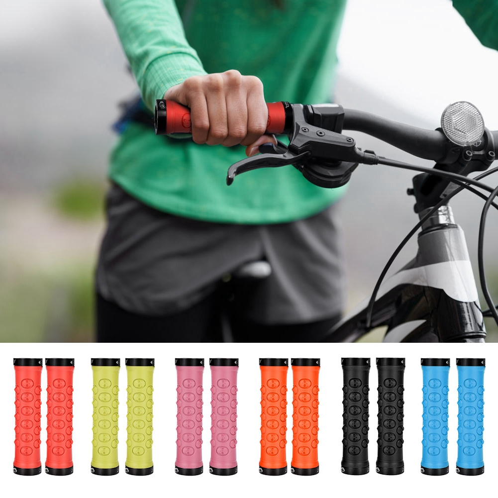 1 Pair Aluminum Alloy Cycling Bicycle Bike Mountain Handlebar Bar End Grips ZH