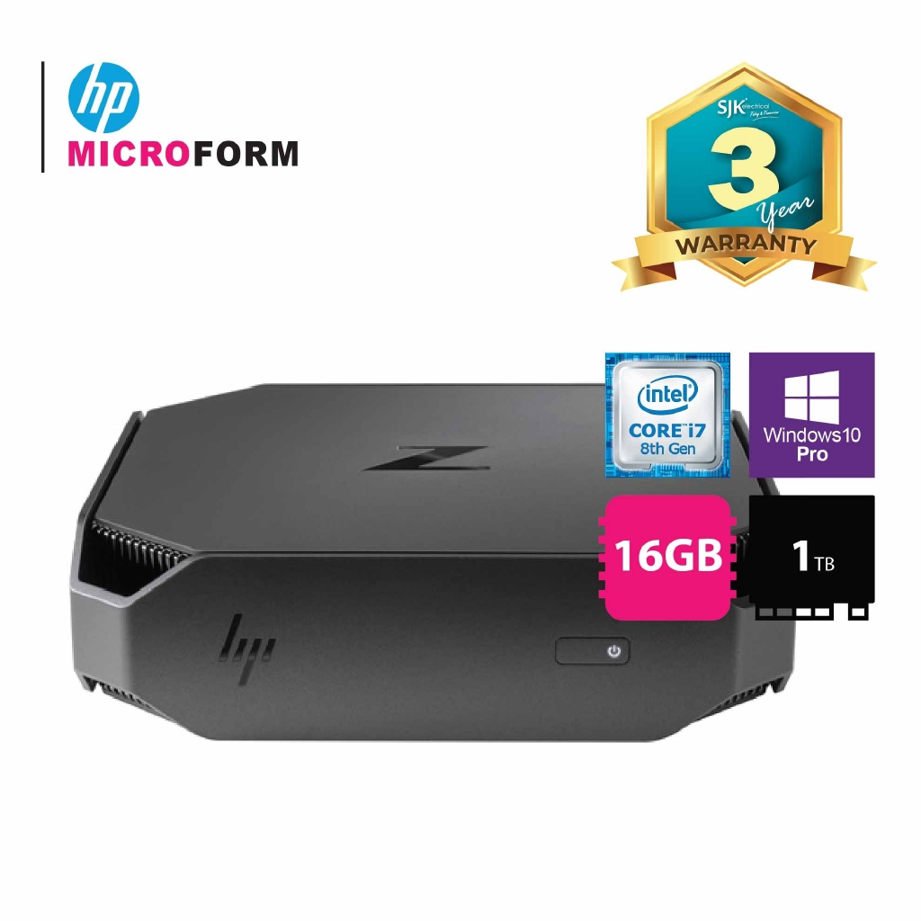 HP Workstation PC Z2 Mini G4 i7-8700, 3 2GHz 12M/ 16GB/ 1TB/ Win 10 Pro 64