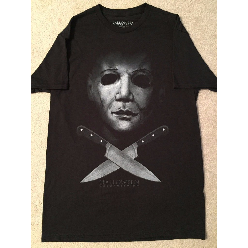 Authentic HALLOWEEN Movie Michael Myers Knives Face T-Shirt S M L XL 2XL NEW
