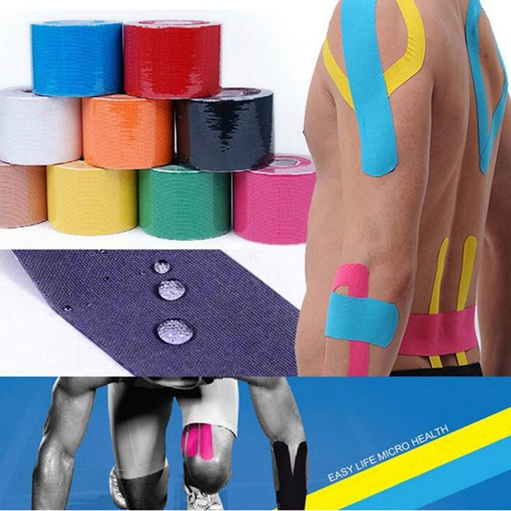5M Athletic Muscle Tape Kinesiology Physio Strapping Sports Body Knee Rocktape