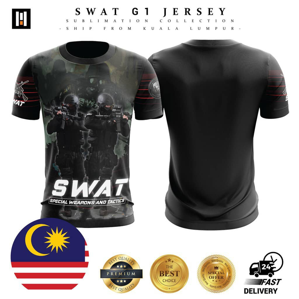 Tactical T-Shirts Jersey Microfiber - 3 (READY STOCK) Baju Tacttical SWAT