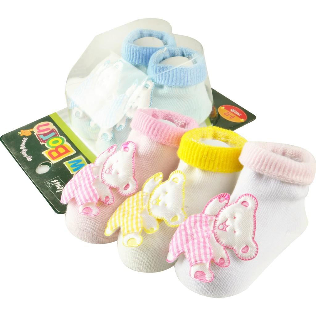 Baby Socks anti slip Boy Girl Cotton Newborn Infant Toddler Kids Soft Anti slip Cute Bear design