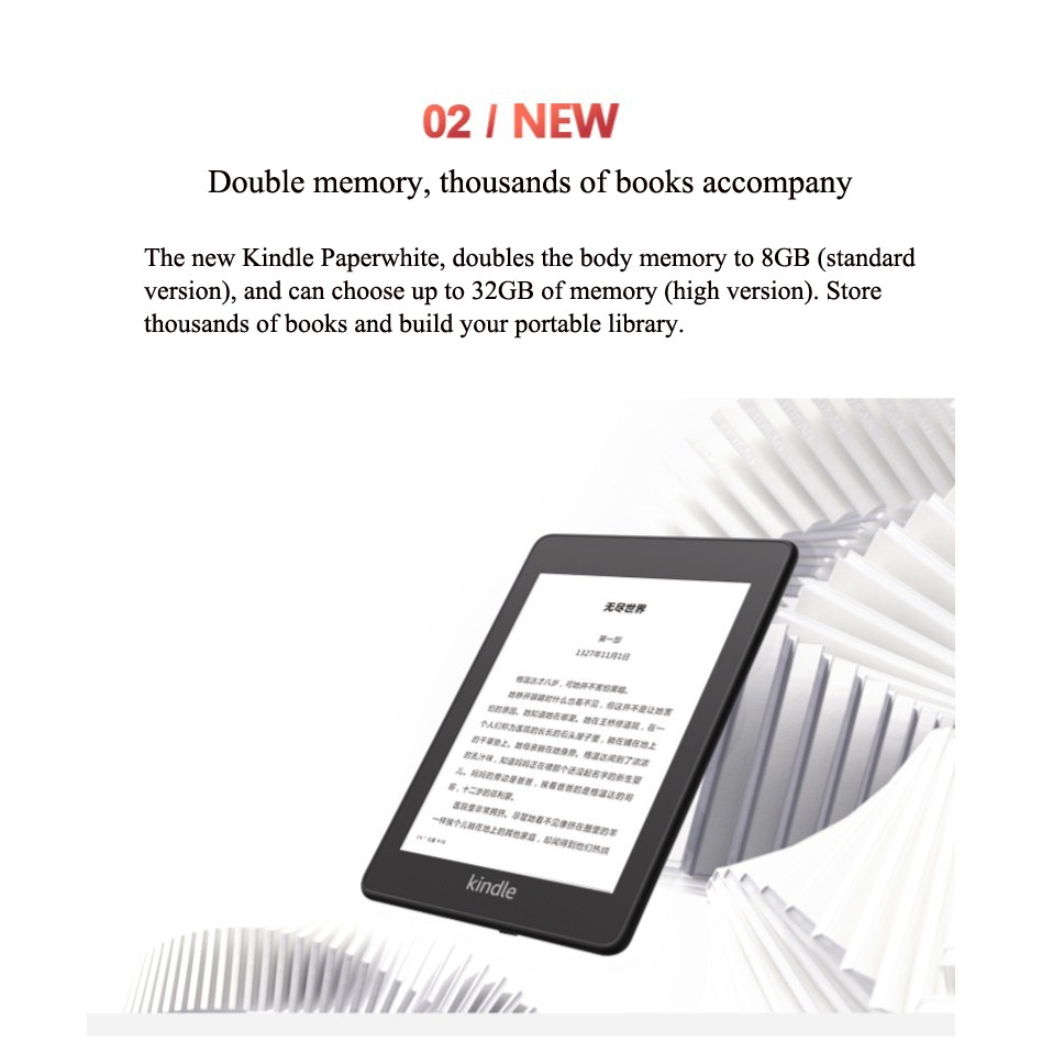 All new Kindle Paperwhite - now waterproof 8GB 4300 ppi