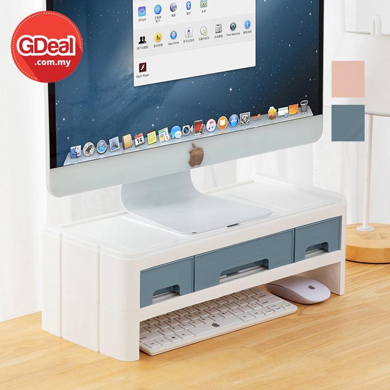 GDeal Plastic Desktop Computer Storage Display Drawer Shelf Rak Simpanan رق سيمڤنن